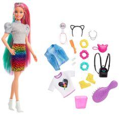 Mattel Barbie Lampart z tęczowymi włosami i akcesoriami