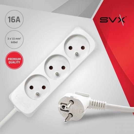 Brennenstuhl 3 zásuvky 3m 3G1,5 Prodlužovací kabel 16A bílý 3M