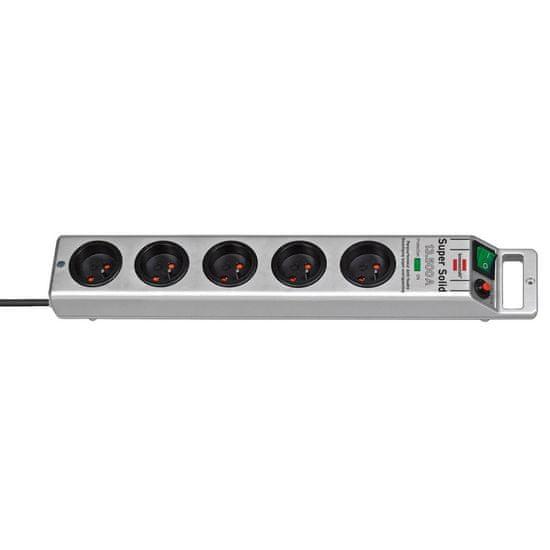 Brennenstuhl Prodlužovací kabel Super-Solid 3G1,5 13.500 stříbrný 2,5M