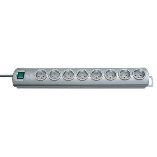Brennenstuhl Prodlužovací kabel PRIMERA 8 zásuvek 16A stříbrný 2 M