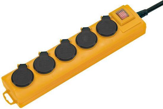 Brennenstuhl Prodlužovací kabel, 5 zásuvek s vypínačem, žluto-černý 2M