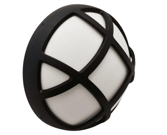 Tracon Electric Plastové chráněné LED svítidlo s mřížkou - kruhové 8W