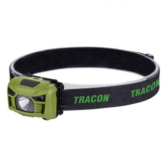 Tracon Electric Akumulátorová čelová LED lampa se snímačem pohybu 3W
