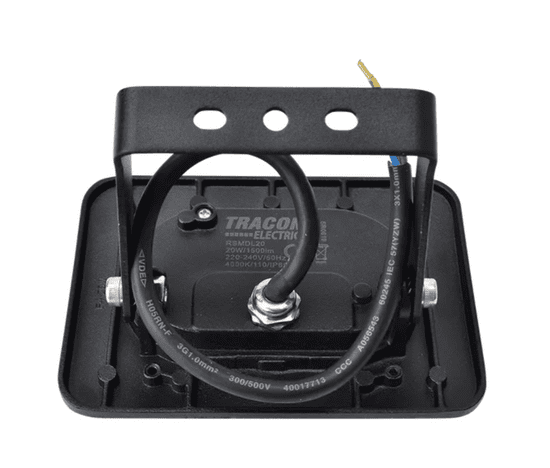 Tracon Electric LED SMD reflektor černý 20W - neutrální bílá