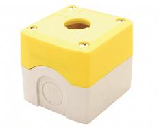Tracon Electric Krabicová sestava k tlačítkům žlutá - 1x otvor 70x90x65mm