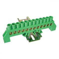 Tracon Electric Můstek PE zelený 12P 12,6x39x7mm / L1=118mm