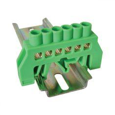 Tracon Electric Můstek PE zelený 6P 12,6x39x7mm / L1=66mm 2 ks