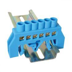 Tracon Electric Mostík N modrý 6P 12,6x39x7mm / L1=66mm