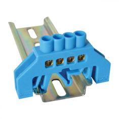 Tracon Electric Mostík N modrý 4P 10,5x35x5mm / L1=49mm 2 ks