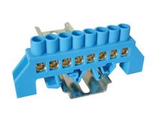 Tracon Electric Mostík N modrý 8P 10,5x28x7mm / L1=79mm