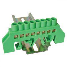 Tracon Electric Můstek PE zelený 8P 10,5x28x7mm / L1=79mm