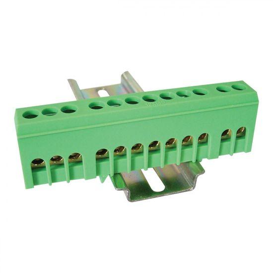 Tracon Electric Můstek PE zelený 12P 13x26x5,5mm / L=88mm