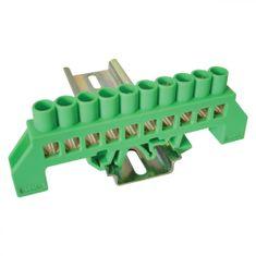 Tracon Electric Můstek PE zelený 10P 12,6x39x7mm / L1=100mm