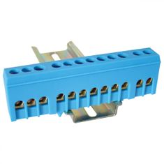 Tracon Electric Můstek N modrý 12P 13x26x5,5mm / L=88mm