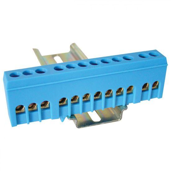 Tracon Electric Můstek N modrý 12P 13x26x5,5mm / L=88mm 2 ks