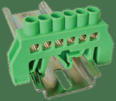 Tracon Electric Můstek PE zelený 6P 10,5x35x5mm / L1=49mm