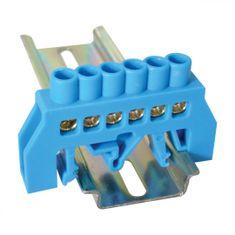 Tracon Electric Můstek N modrý 6P 10,5x35x5mm / L1=49mm
