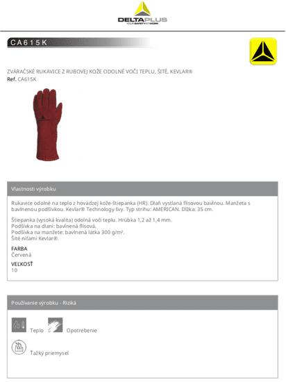 Delta Plus Svářečské rukavice CA615 - Kevlar 10