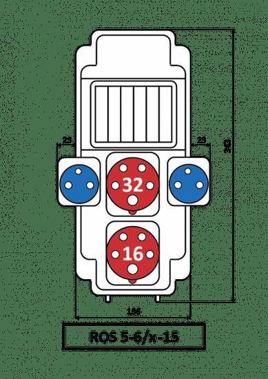 SEZ Zásuvková ROS 5/x-15 rozvodnice nejištěná 5/x-15
