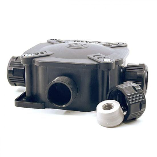 SEZ Krabice rozvodná 6455-11P/5 černá 122x122x44,6mm