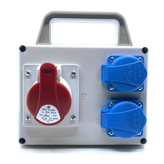 SEZ ROSPI 1630 D Rozvodnice nejištěný IP54 190x192x117mm