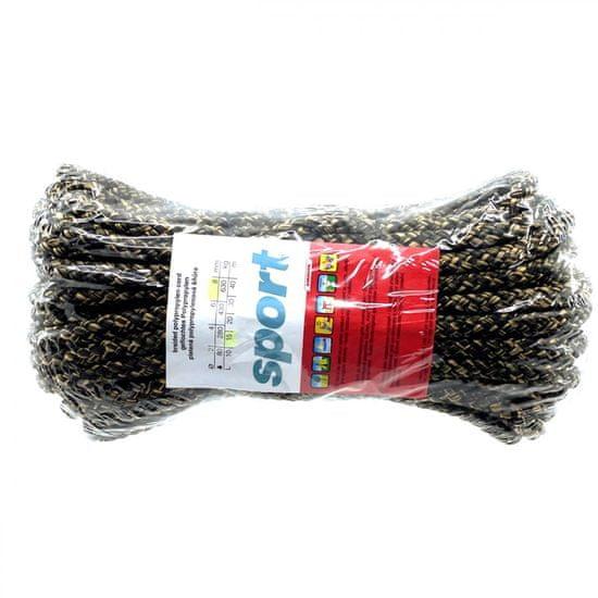 Lanex Polypropylenová šňůra pletená bez jádra barevná 15m 8mm