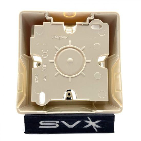LEGRAND Valena 1 krabica na omietku béžová 89x89x40mm