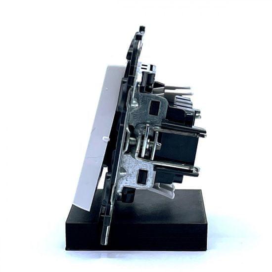 LEGRAND Valena LIFE vypínač č.6+6 biely 74,7x74,7x41mm