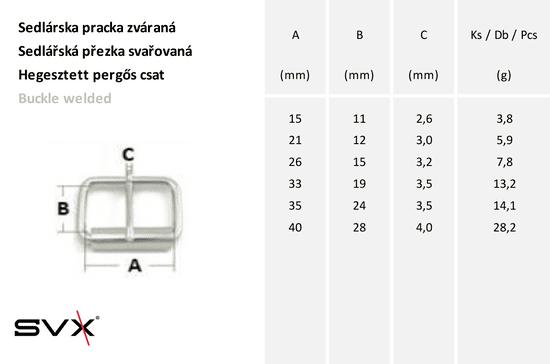 SVX Sedlárska pracka Ni zváraná 16mm 10 ks