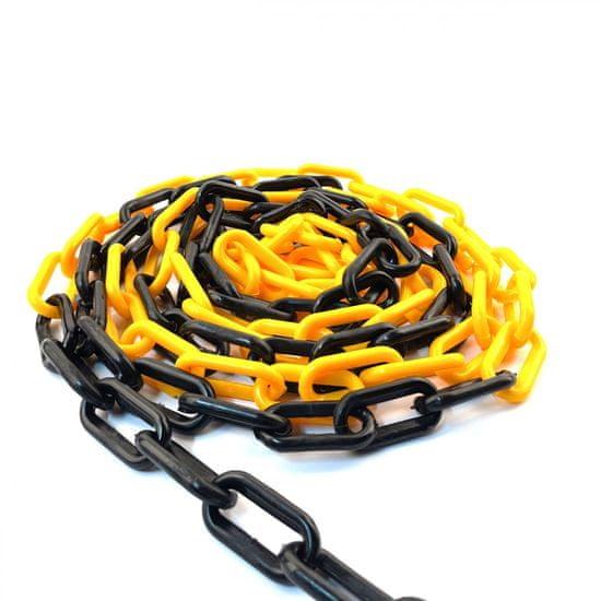 SVX Plastový řetěz černo/žlutý 8mm 25 m