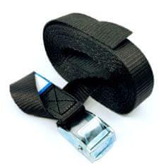 SVX Jednodielny rýchloupínací pás so sponou a voľným koncom čierny 8M 500kg