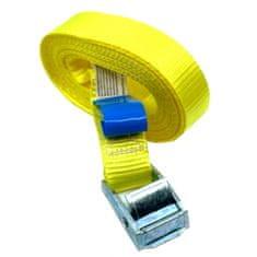 SVX Jednodielny rýchloupínací pás so sponou a voľným koncom žltý 8M 500kg