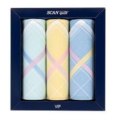 SCANquilt dámské kapesníky VIP 3 ks L40