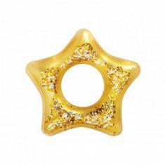 Bestway Nafukovací kruh ZLATÁ HVĚZDA sa trblietkami 36141 91 cm zlatá