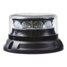 Stualarm PROFI LED maják 12-24V 12x3W oranžový čirý 133x76mm, ECE R10 (911-C12fCl)