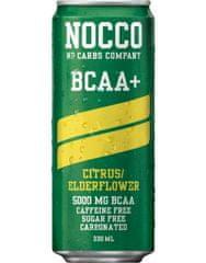 NOCCO BCAA+ 330 ml, caribbean (bez kofeínu)