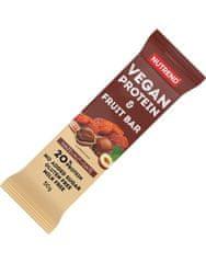 Nutrend Vegan Protein Fruit Bar 50 g, kakao-třešeň