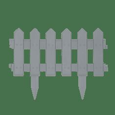 GARDEN OF EDEN PVC ograja za vrtove ali cvetlične grede - 40.5 x 29.5 cm - siva