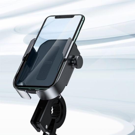 BASEUS Armor univerzális mobiltelefon tartó kerékpárhoz / motorkerékpárhoz SUKJA-01, fekete