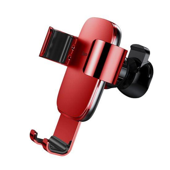 BASEUS Metal Age Gravity autós tartó (a szellőzőrácsra) SUYL-D09, piros