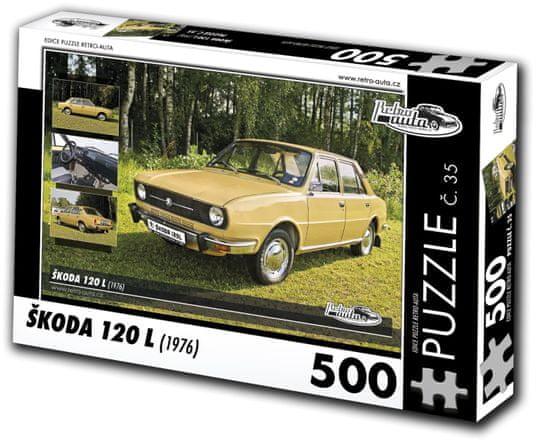 RETRO-AUTA© Puzzle č. 35 Škoda 120 L (1976) 500 dielikov
