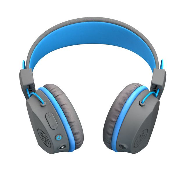 modern Bluetooth fejhallgató jlab jbudies studio wireless gyermekeknek korlátozott hangerő shareport kábel a zene megosztásához kényelmes vezérlőgombok a bal fülkagylón handsfree mikrofon 24 óra üzemidő