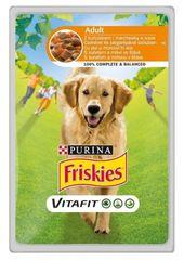 Friskies mokra hrana za odrasle pse VitaFit, piščanec in korenje v omaki, 20 x 100 g