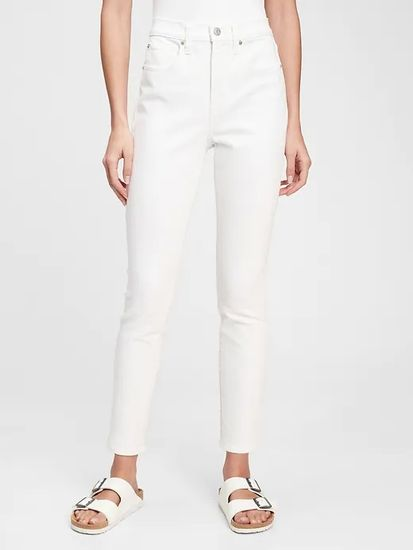 Gap Jeans hlače high rise true skinny with secret smoothing pockets