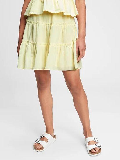 Gap Otroška Krilo teen tiered skirt