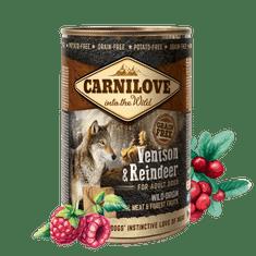 Carnilove Wild Meat Venison & Reindeer 6x 400 g