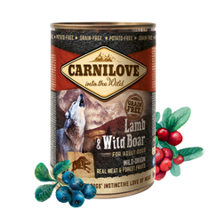 Carnilove mokra karma dla psa Wild Meat Lamb & Wild Boar 6 x 400 g