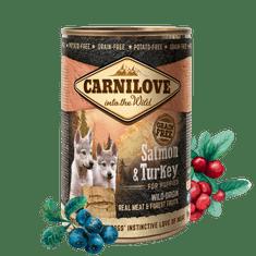 Carnilove mokra karma dla szczeniąt Wild Meat Salmon & Turkey for Puppies 6x 400 g