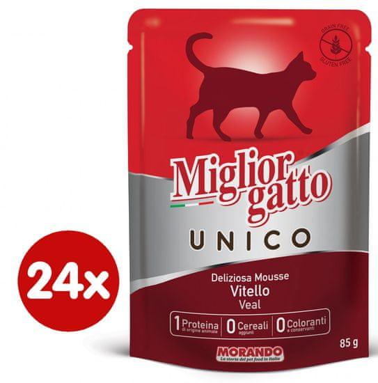 Miglior Gatto Unico mokra hrana, teletina, 24 x 85 g