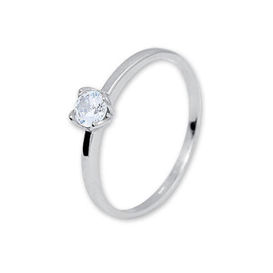 Brilio Silver Nežný strieborný prsteň so zirkónom 426 001 00576 04 striebro 925/1000